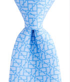 Boys Puzzle Whale Printed Tie