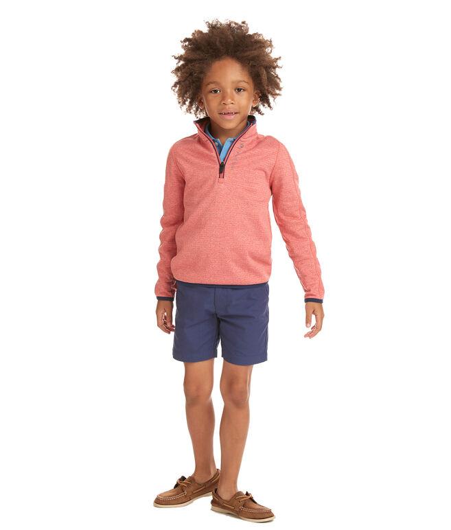 Boys 1/4-Zip Grid Fleece