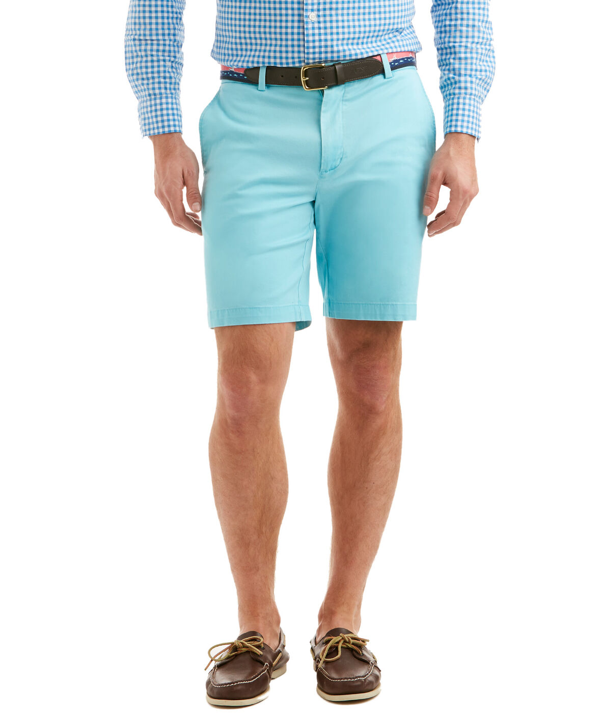 Modern colors like salmon and ice blue add a vibrant hint to your ensemble, while classic hues such as army green and khaki always match. Pair shorts with a t-shirt for a day on a boat or running errands.