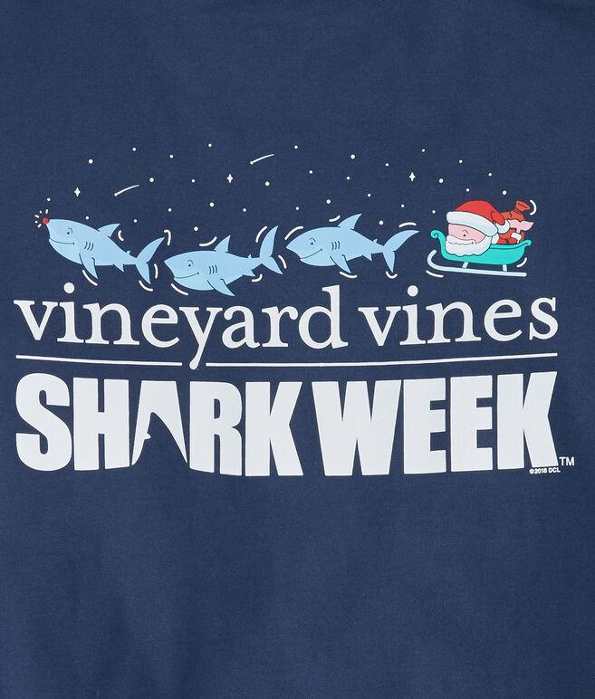Long-Sleeve Shark Week Santa Whale Rudolph T-Shirt