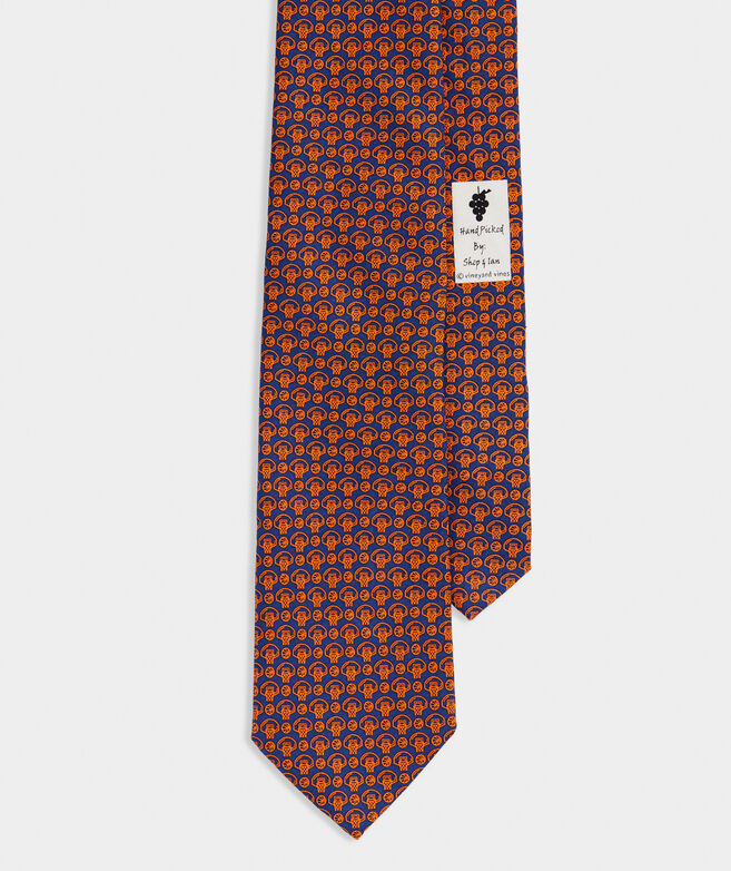Basketball Geo Printed Tie