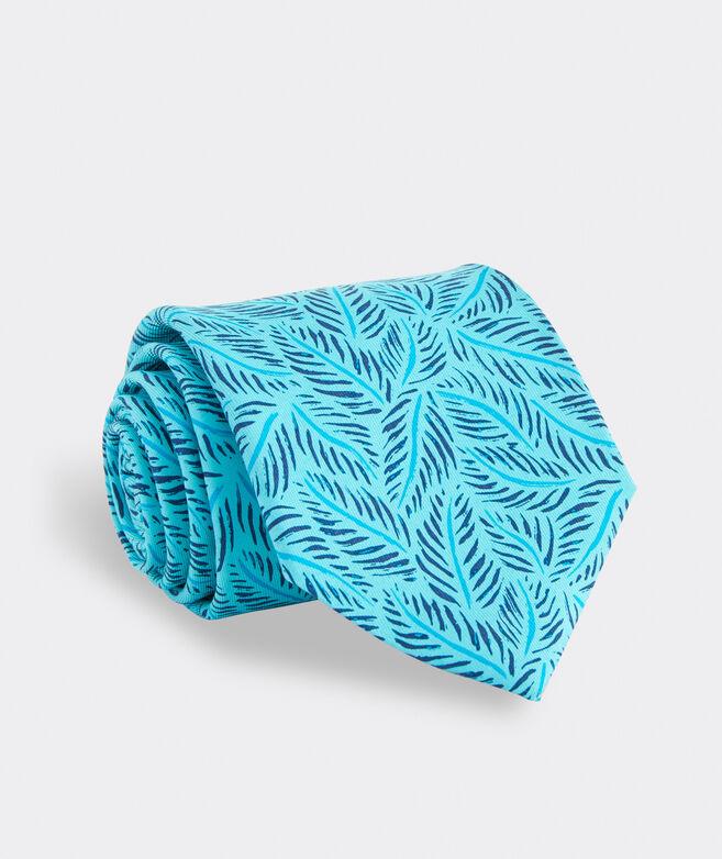 Linear Leaves Printed Tie