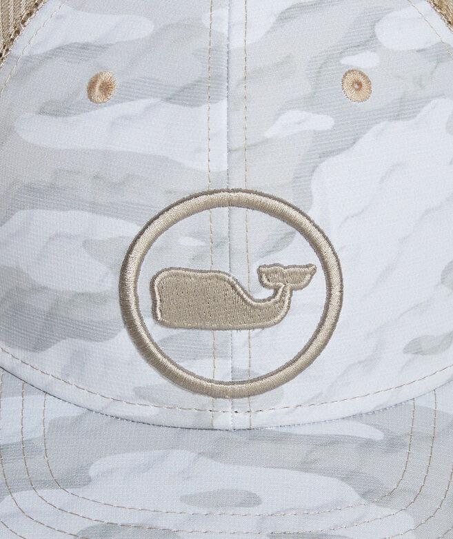 Sea Floor Camo Whale Dot Performance Trucker Hat