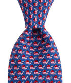 Baseball Character Whale Printed Tie