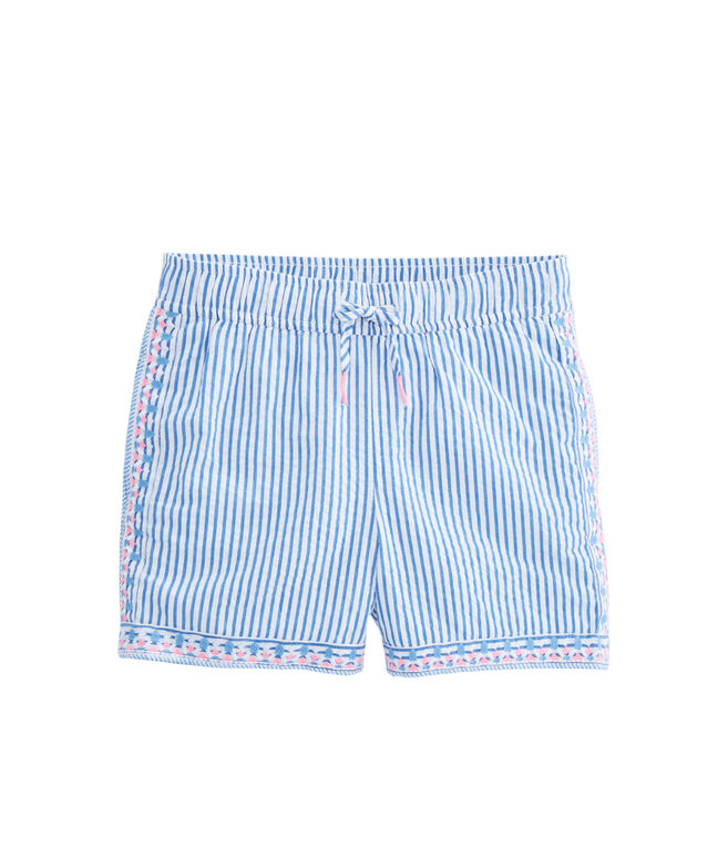 Girls Seersucker Pull-On Shorts