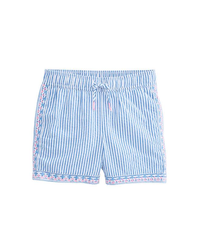 Girls Seersucker Pull-On Shorts