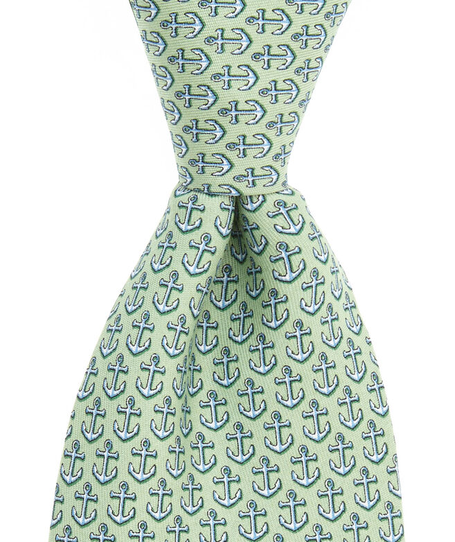 6337b16e9144 Men's Silk Ties: Anchors Printed Tie for Men - Vineyard Vines