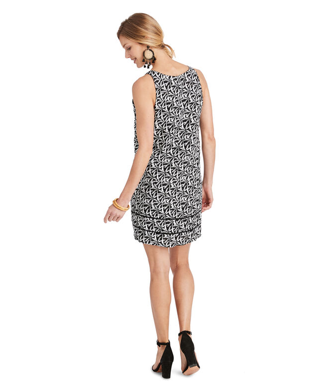 Allover Palm Cisco Swing Dress