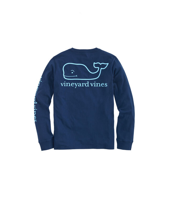 Boys Glow In The Dark Whale Logo Long-Sleeve T-Shirt