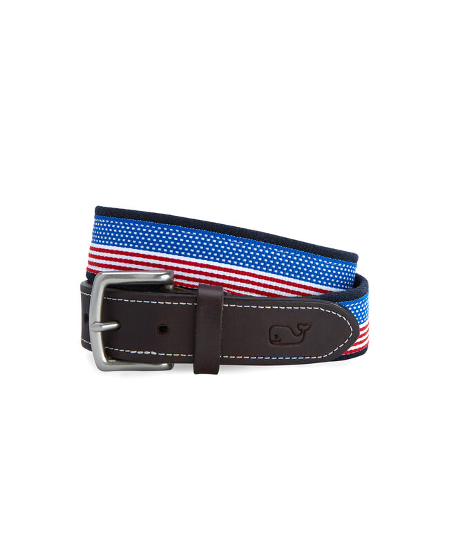 Flag Ribbon Canvas Club Belt