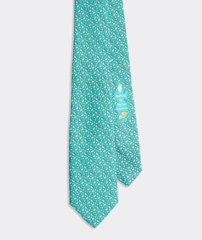 Boys' Key Lime Printed Tie