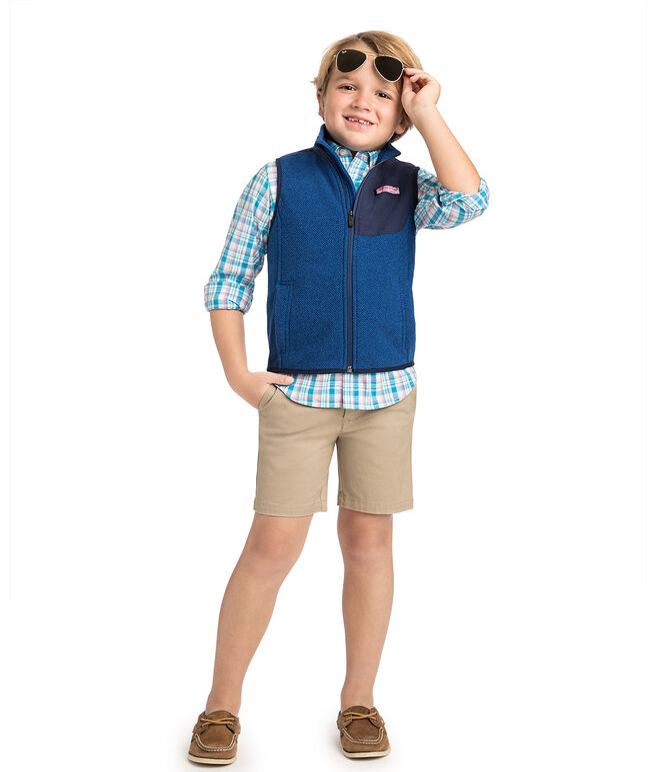 Boys Honeycomb Heritage Fleece Vest
