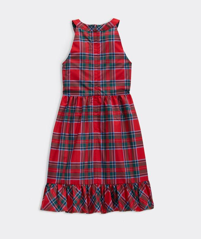 Girls' Nantucket Tartan Taffeta Dress