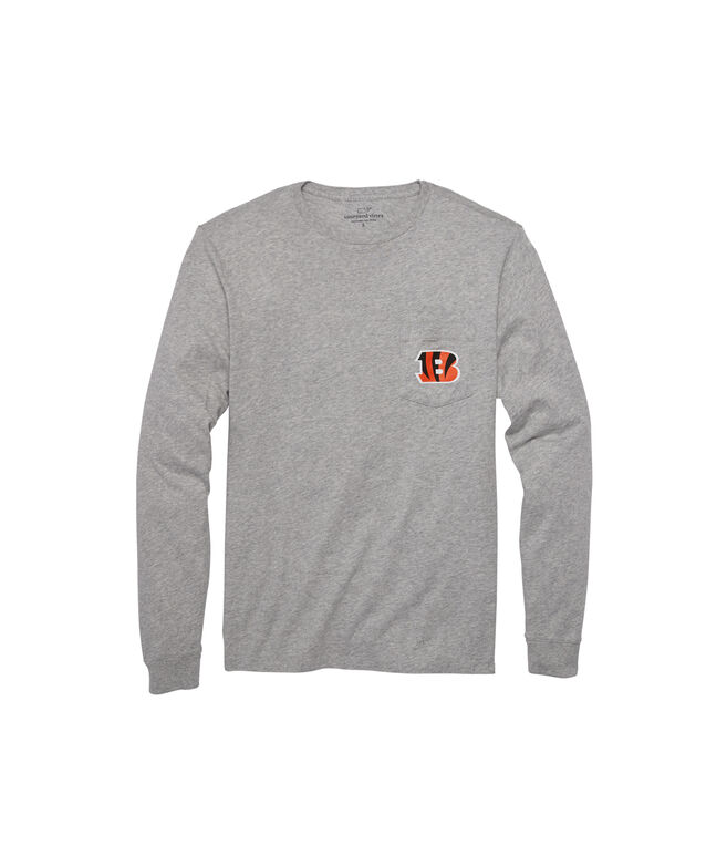 Cincinnati Bengals Long-Sleeve Block Stripe T-Shirt