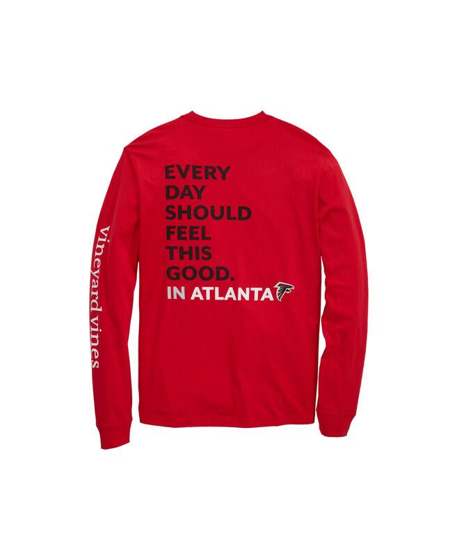 low priced 7a056 f87bf Atlanta Falcons Long-Sleeve EDSFTG T-Shirt