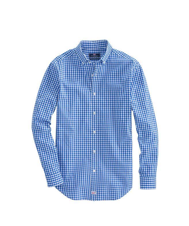 Classic Fit Carleton Gingham Stretch Murray Shirt