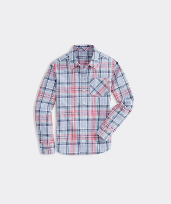 Girls' Flannel Button-Down Shirt