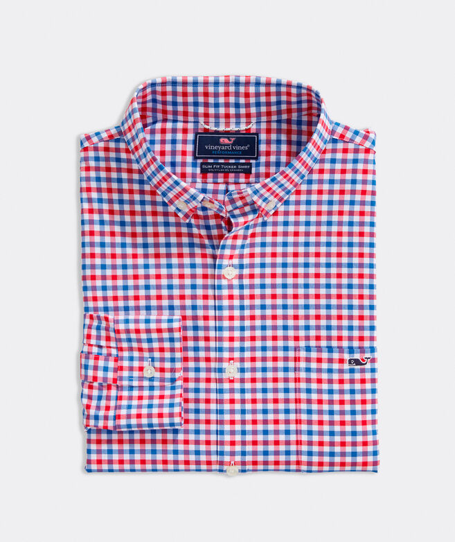 Slim Fit Grouper On-The-Go Performance Tucker Button-Down Shirt