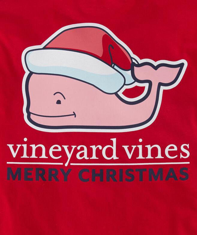 Boys Santa Whale Long-Sleeve Pocket T-Shirt