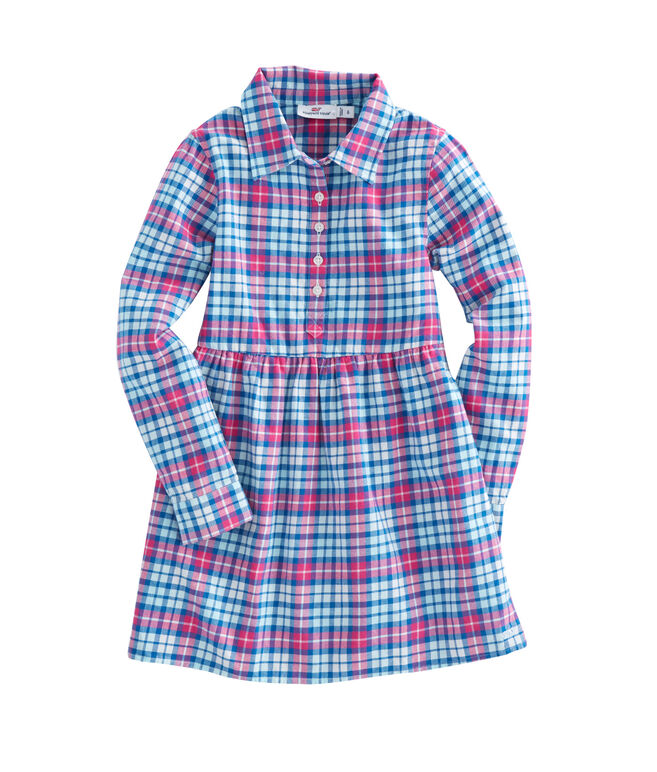 Girls Piper Plaid Flannel Shirt Dress