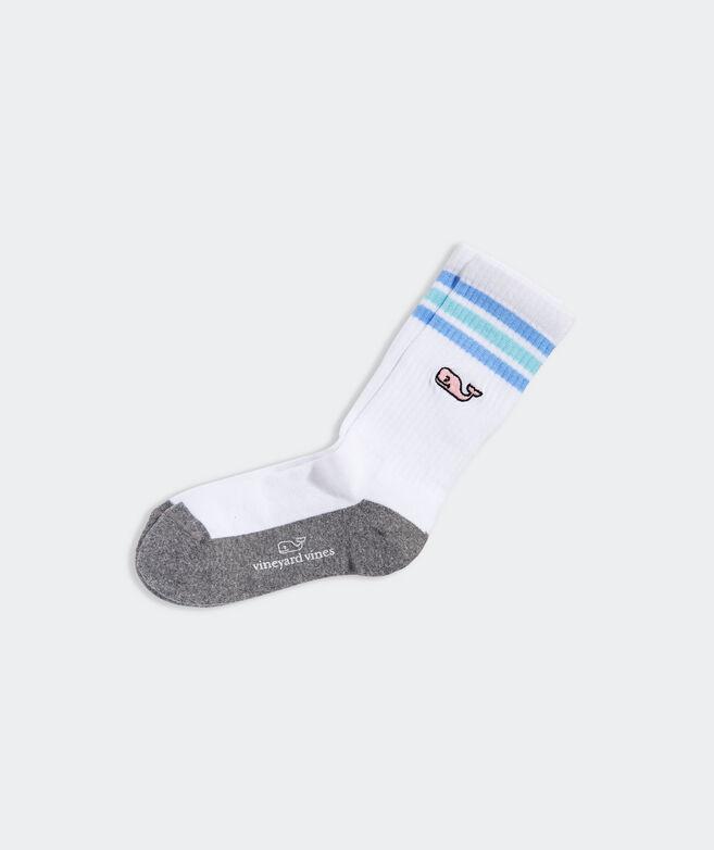 Boys' Tri-Stripe Whale Athletic Sock