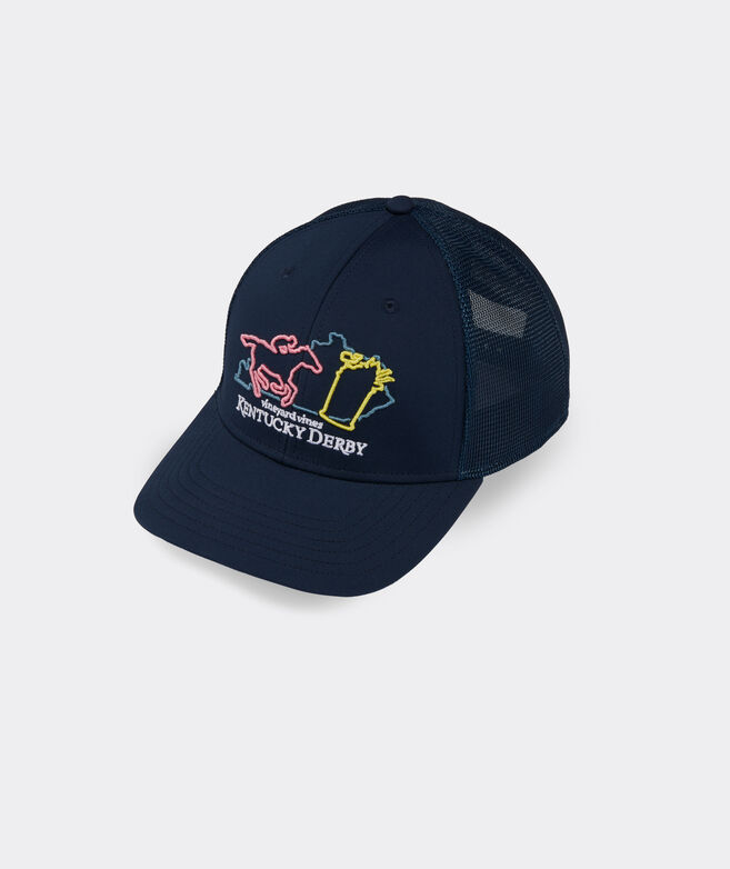 Kentucky Derby Neon Sign Performance Trucker Hat