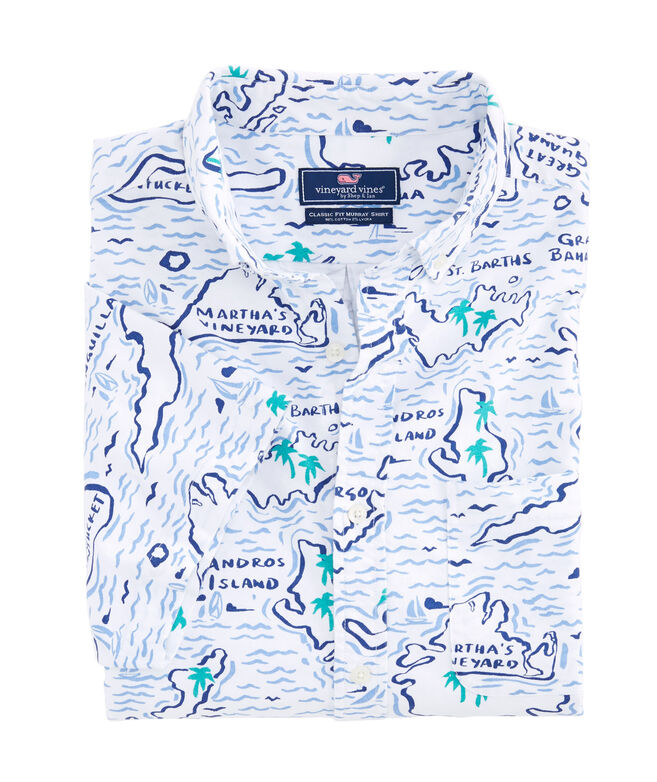 Short-Sleeve Map Of The Islands Classic Murray Shirt