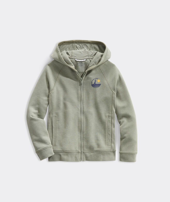 Boys' Woodhouse Garment Dyed Full Zip Hoodie