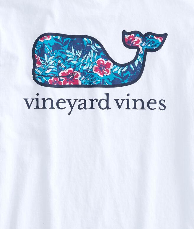 Ocean Floral Whale Pocket T-Shirt