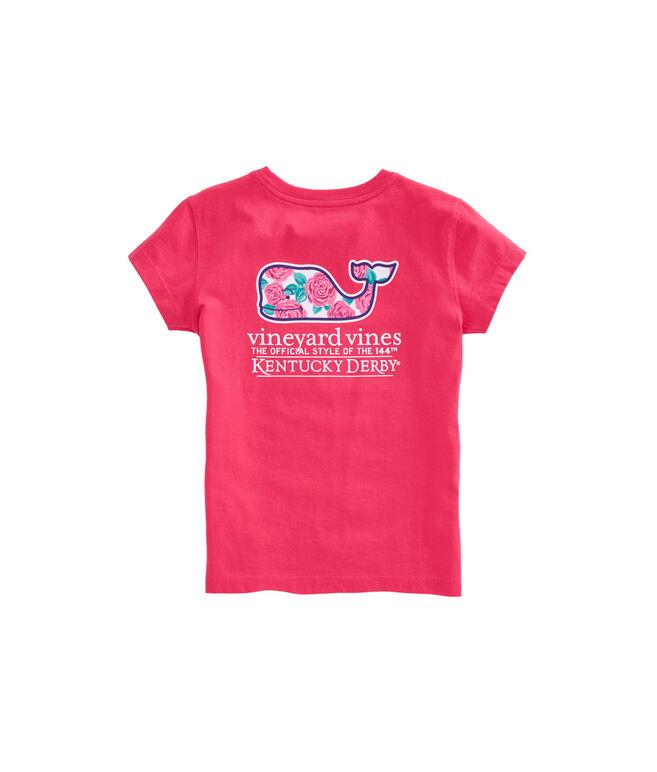 Girls Derby Rose Whale Pocket Tee