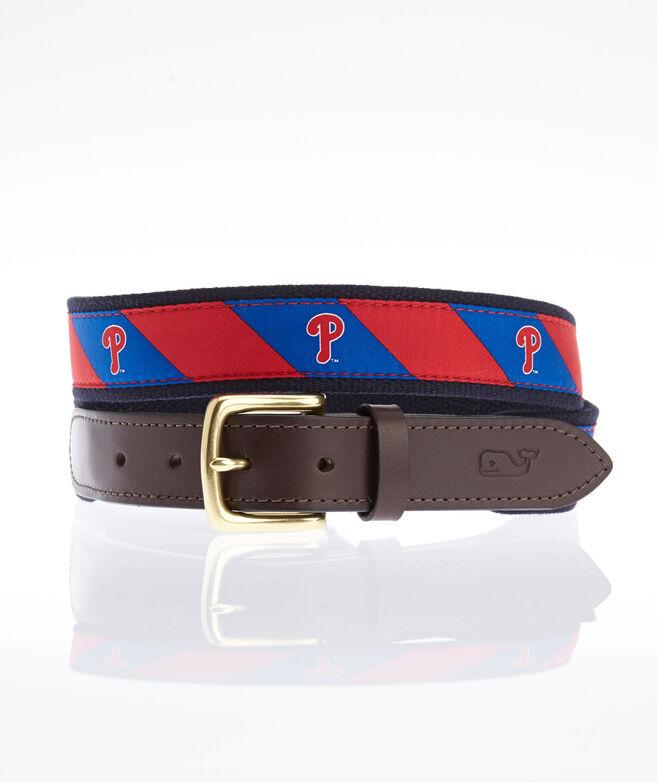Phillies P Stripe Canvas Club Belt