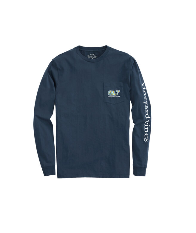 Long-Sleeve Camo Mahi Pocket T-Shirt