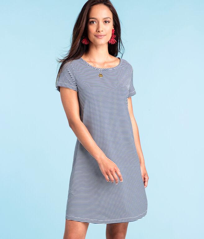 Striped T-Shirt Swing Dress