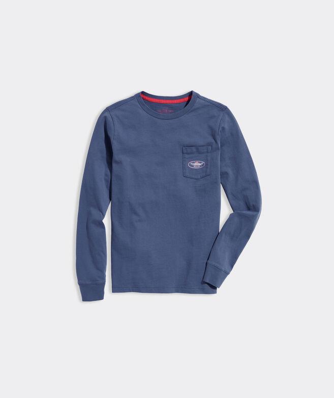 Boys' Sailfish Logo Long-Sleeve Pocket Tee