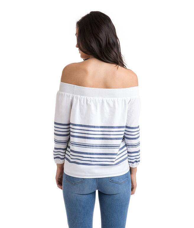 Breaker Stripe Off The Shoulder Top