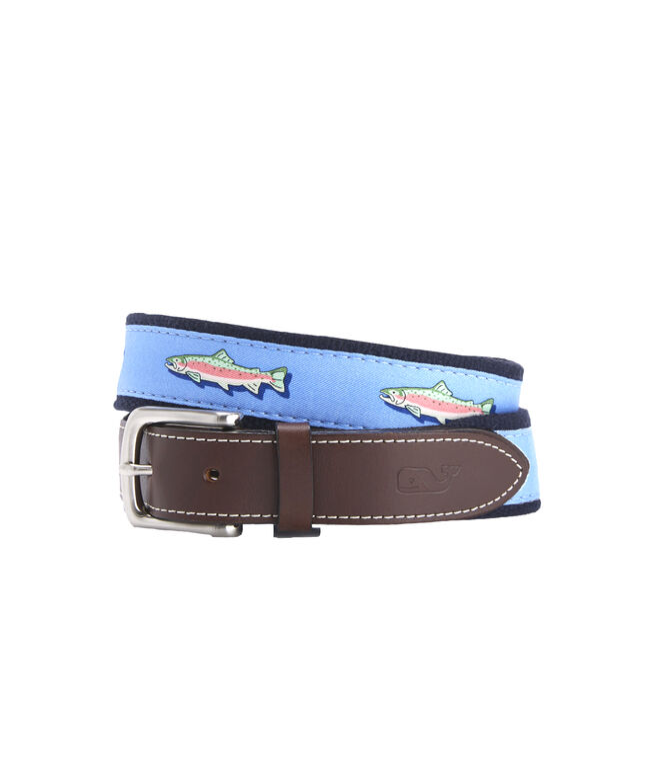 Placed Trout Canvas Club Belt