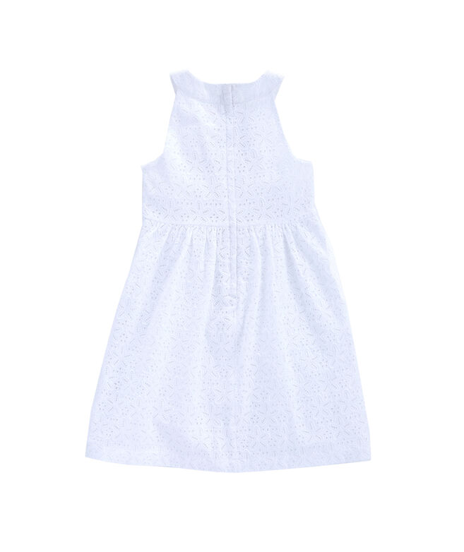 Girls Eyelet Allover Dress