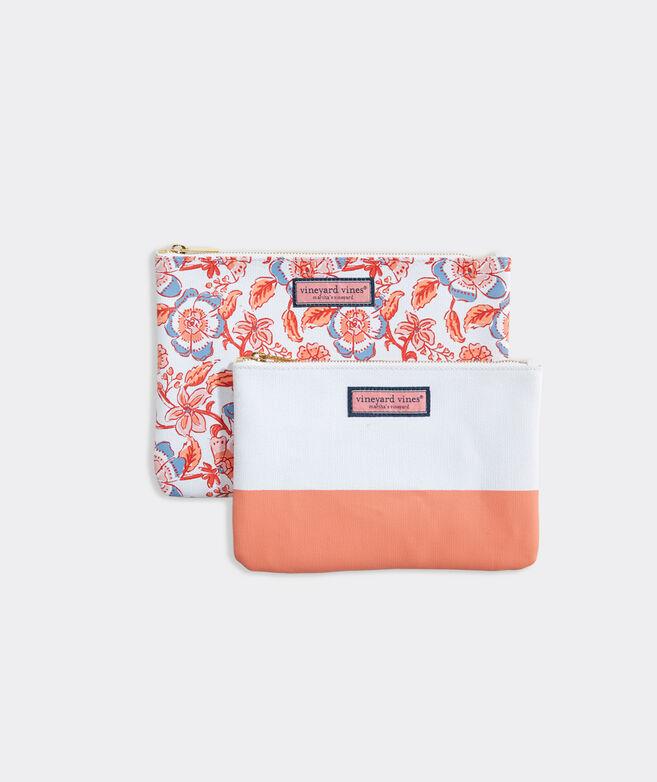 Frangipani Floral 2-Pack Cosmetic Set