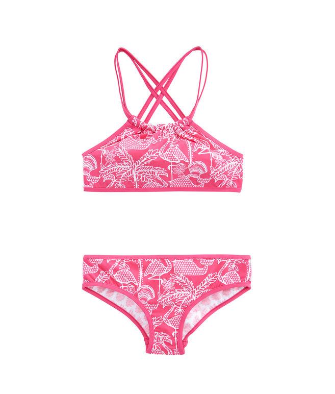 Girls Reversible Flamingo Bikini