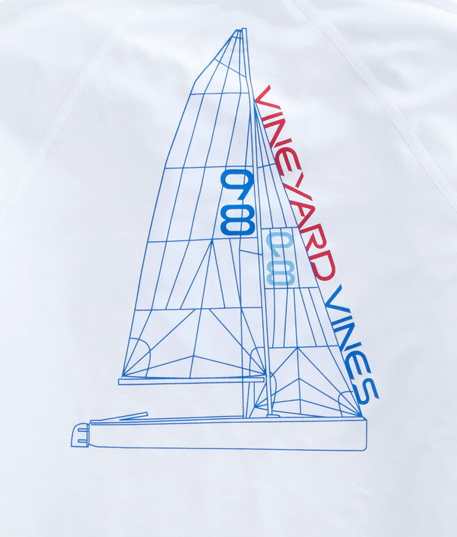 Long-Sleeve Performance Raglan Blueprint Sail T-Shirt