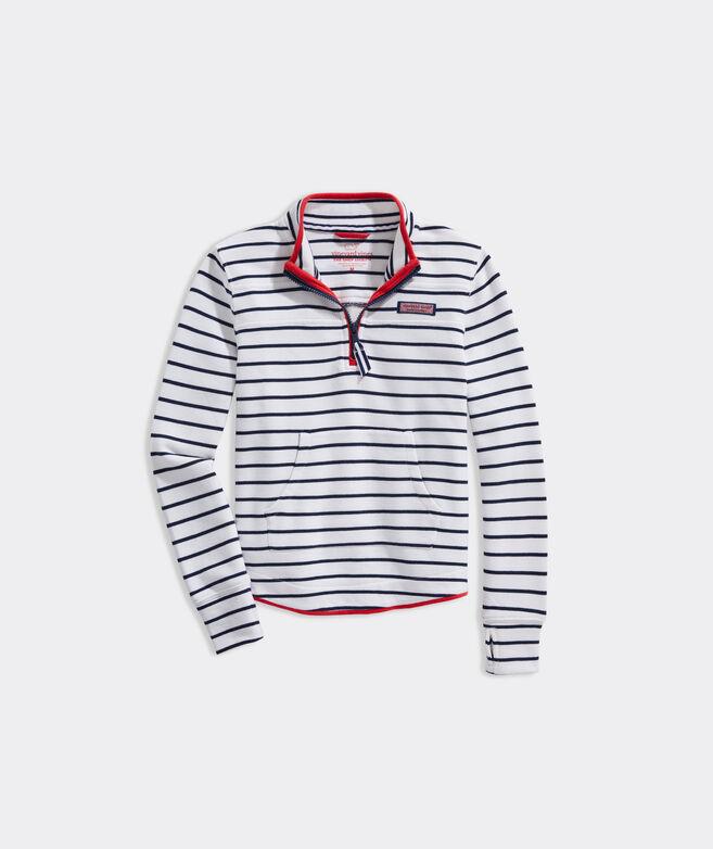 Girls' Pop Striped Relaxed Shep Shirt
