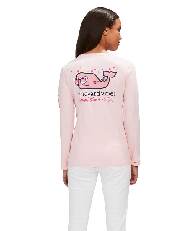 Lovestruck Whale Long-Sleeve Pocket Tee