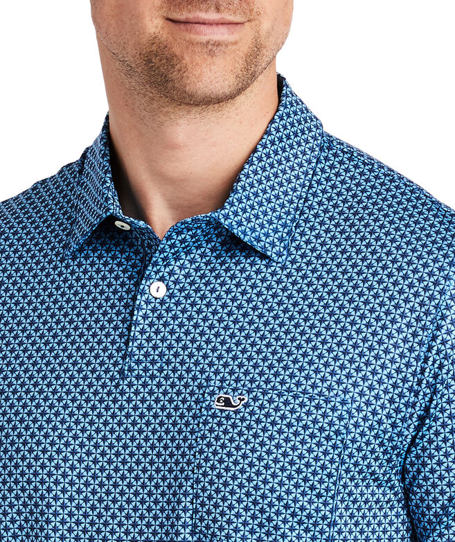 Nautical Star Geo Printed Bowline Fit Polo