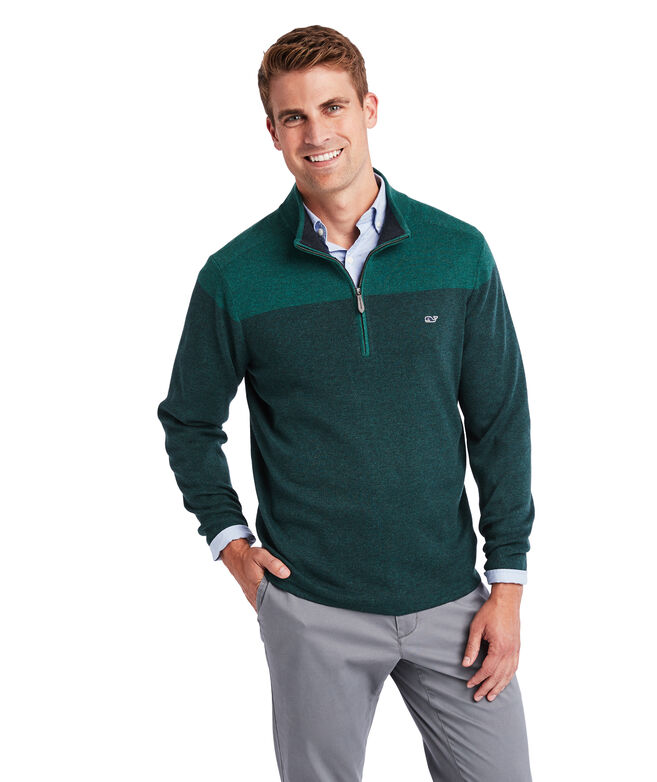 Ridgefield Colorblocked 1/2-Zip Sweater
