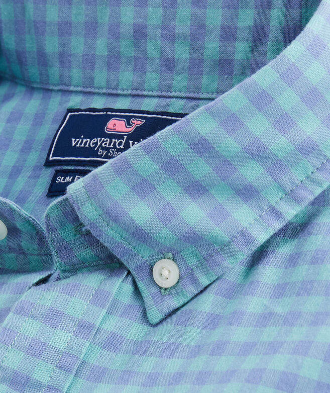 Slim Gingham Madras Tucker Shirt