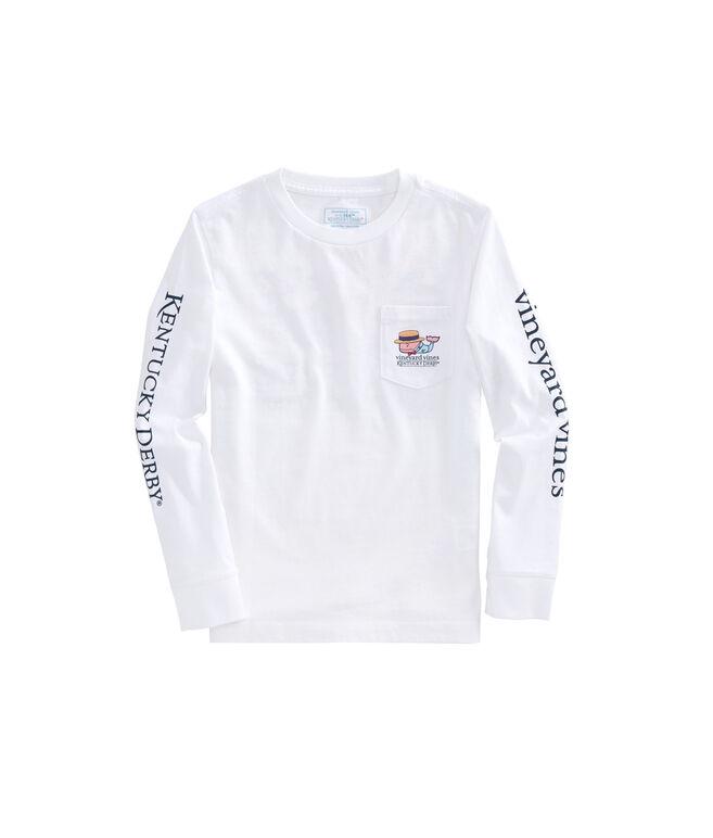 Boys Long-Sleeve Boater Whale Pocket T-Shirt