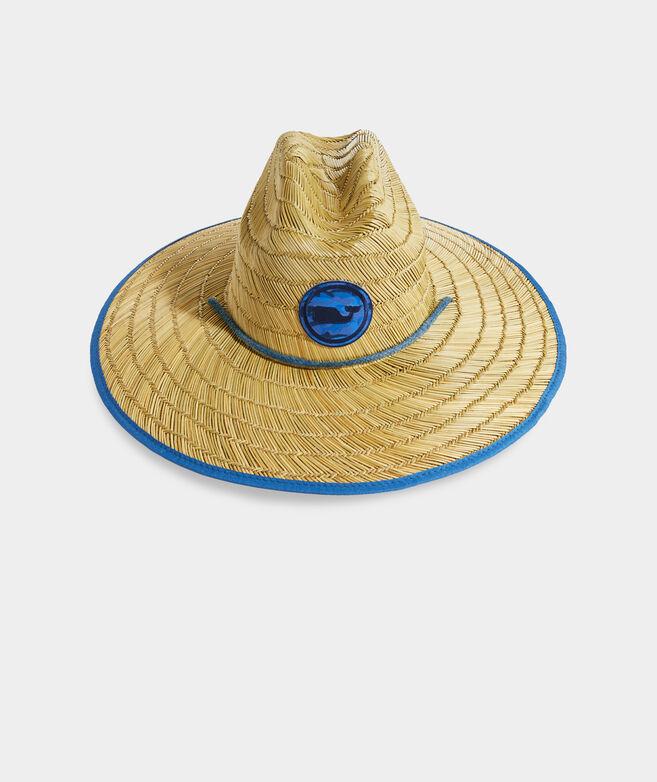 Icon Camo Whale Dot Straw Lifeguard Hat