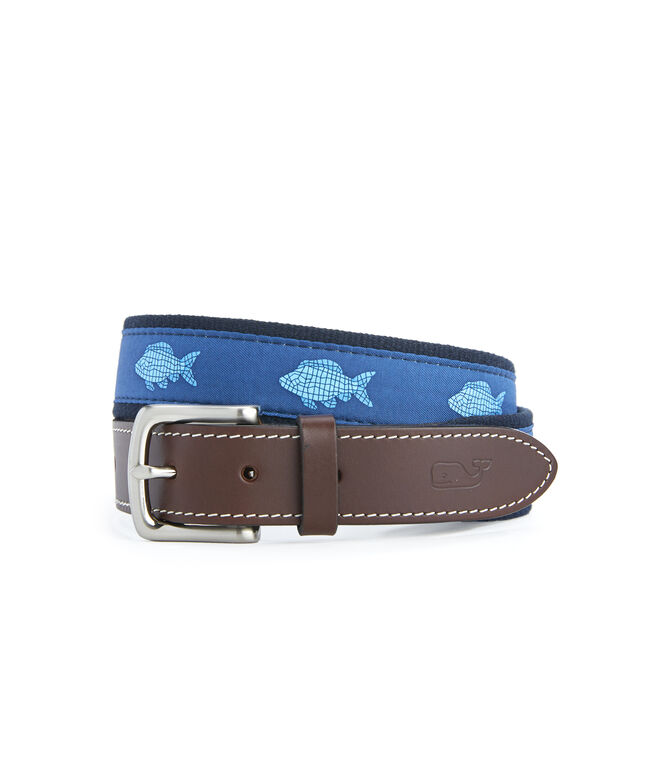 Mosaic Fish Canvas Club Belt