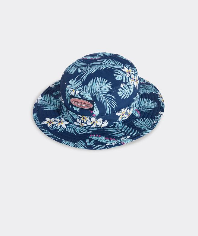 Tropical Flowers Printed Performance Bucket Hat