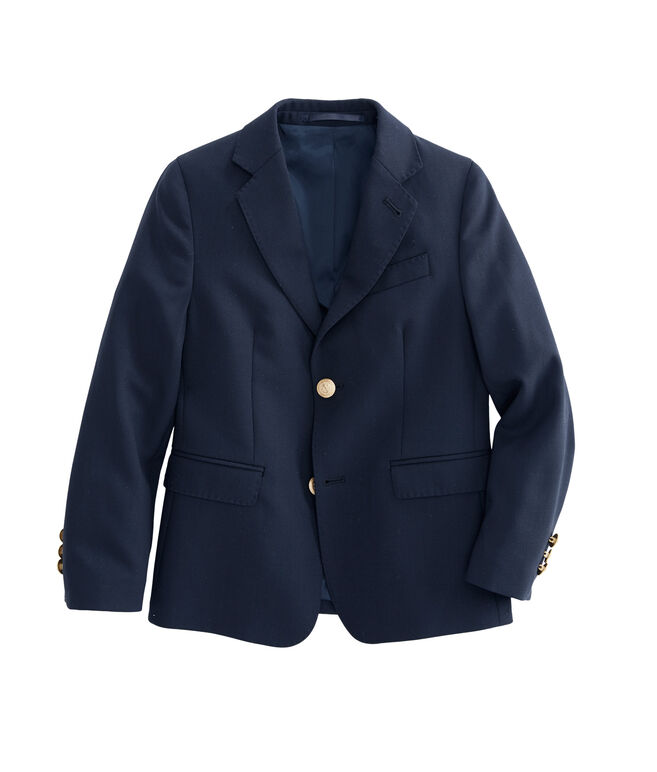 Boys Stretch Navy Blazer (2T-7)